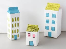 DIY Milk Carton Houses | Milk carton crafts, Cardboard crafts ...